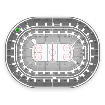 Winnipeg Jets at Bell MTS Place Section 316 View