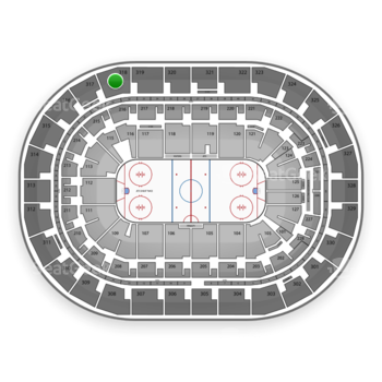 Winnipeg Jets at Bell MTS Place Section 318 View