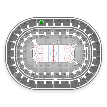 Winnipeg Jets at Bell MTS Place Section 319 View