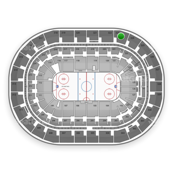 Winnipeg Jets at Bell MTS Place Section 323 View