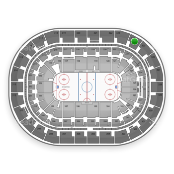 Winnipeg Jets at Bell MTS Place Section 324 View