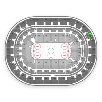 Winnipeg Jets at Bell MTS Place Section 326 View
