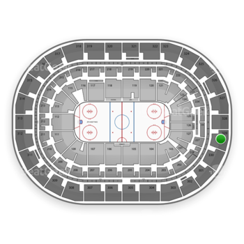 Winnipeg Jets at Bell MTS Place Section 329 View
