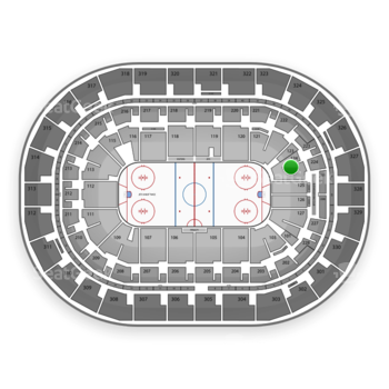 Winnipeg Jets at MTS Centre Section 124 View