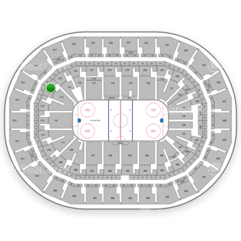 Winnipeg Jets at Bell MTS Place Section 214 View