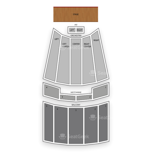 Johnny Mercer Theatre Seating Chart Seatgeek