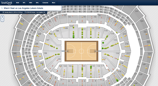 SeatGeek Interactive Seating Maps