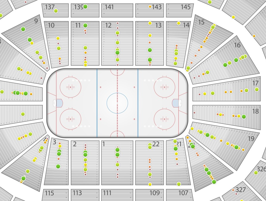 Nationwide arena seating chart rows where are green seats