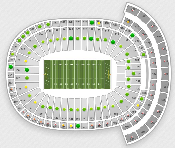 Lambeau Field Interactive Seating Chart