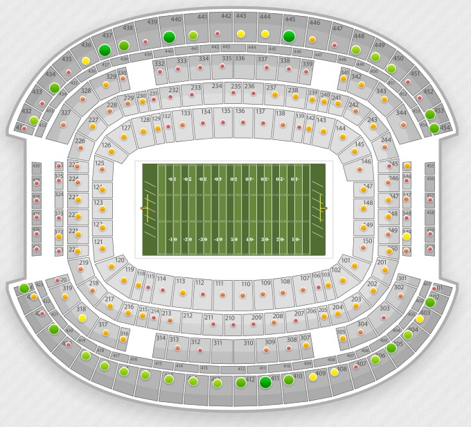 New Cowboy Stadium SeatGeek Interactive Seating Chart