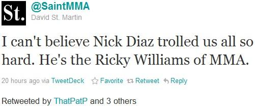 @SaintMMA funny sports tweet