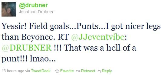drubner funny sports tweets