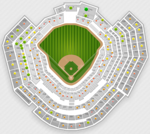 2011 World Series Game 2 Seating Chart