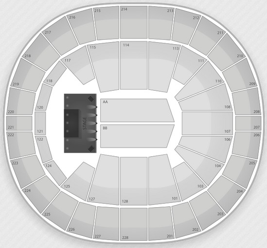 Key Arena seating chart concerts
