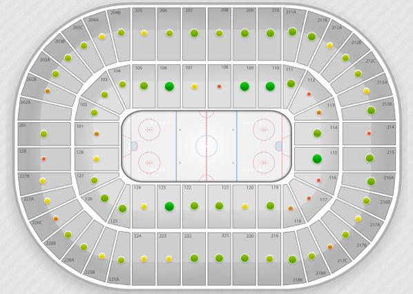 Beautiful joe louis arena seating map pictures printable map new