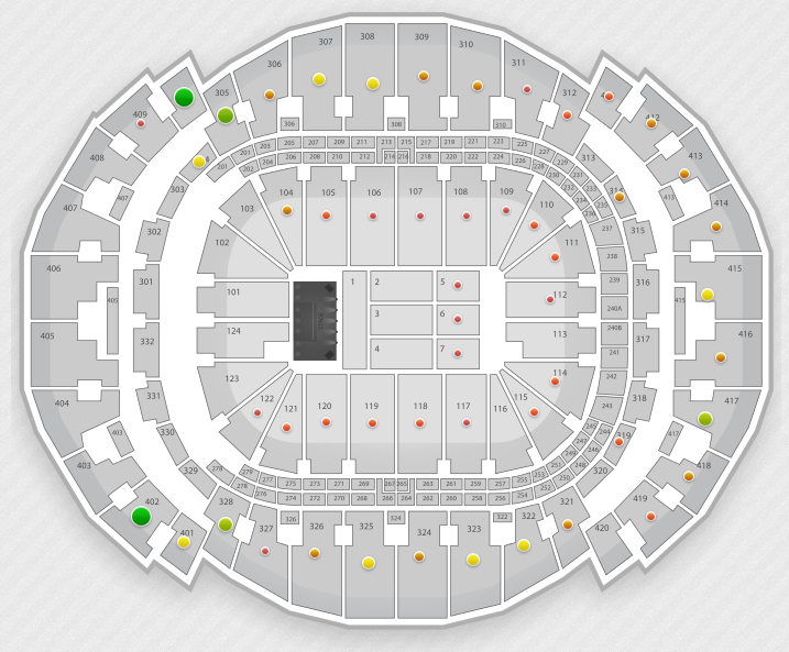 Madonna Miami Seating Chart