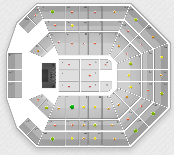 madonna seating chart las vegas mgm