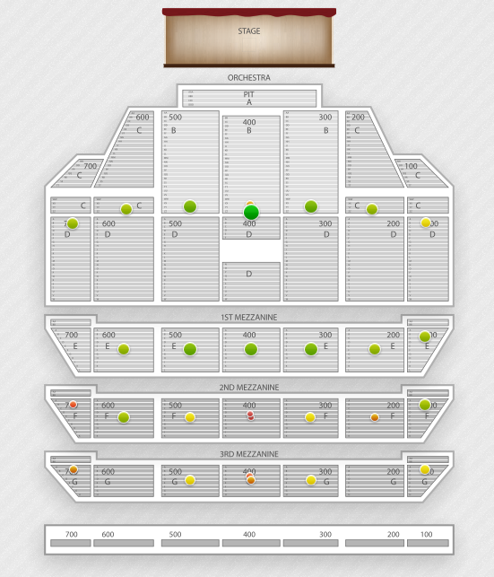 Radio City Music Hall Seating Chart