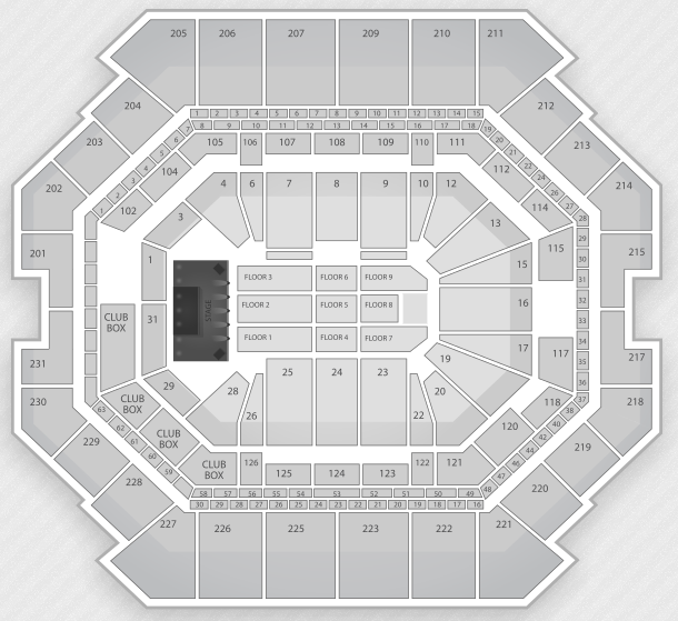 Barclays Center concert seating