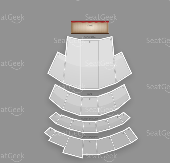 Seating chart from the Beacon Theatre in NYC.