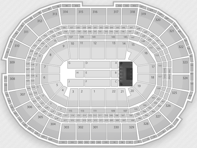 Boston Garden Detailed Seating Chart