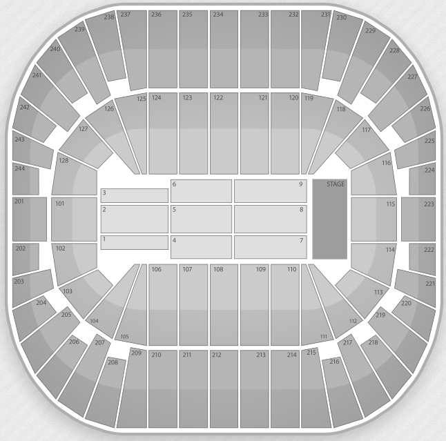 Justin Bieber Seating Chart East Rutherford Izod Center