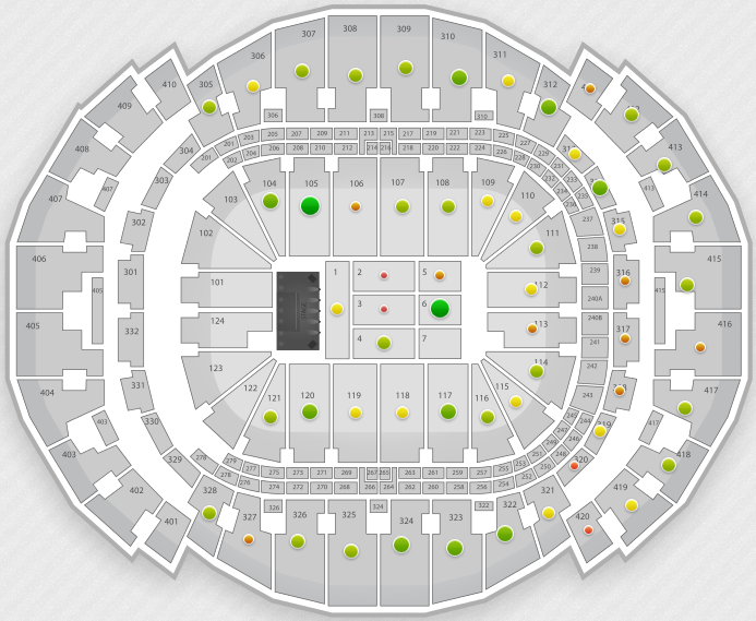 Bradley Center Seating Chart With Rows And Seat Numbers - Us airways arena map