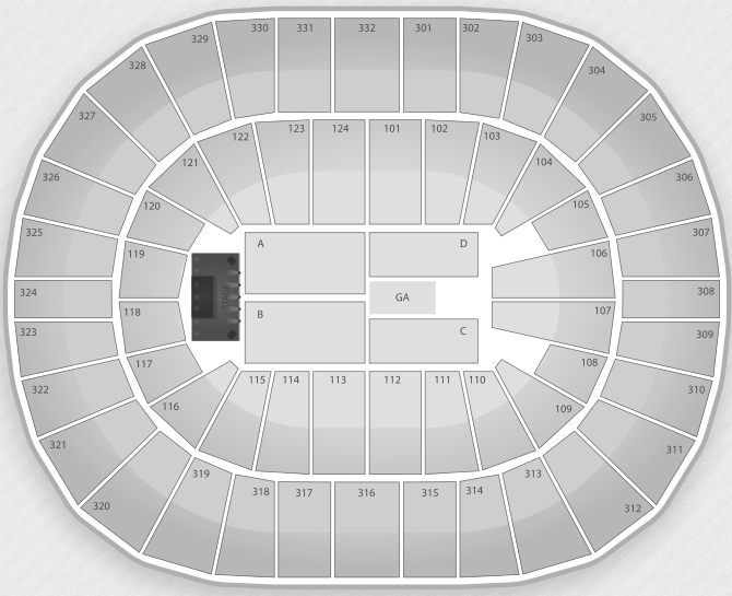 Justin Bieber Seating Chart New Orleans Arena