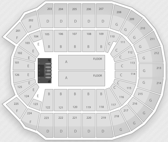 Justin Bieber Seating Chart North Little Rock Verizon Arena