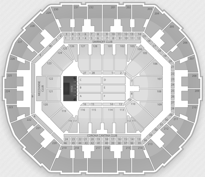 Justin Bieber Seating Chart Oakland Oracle Arena