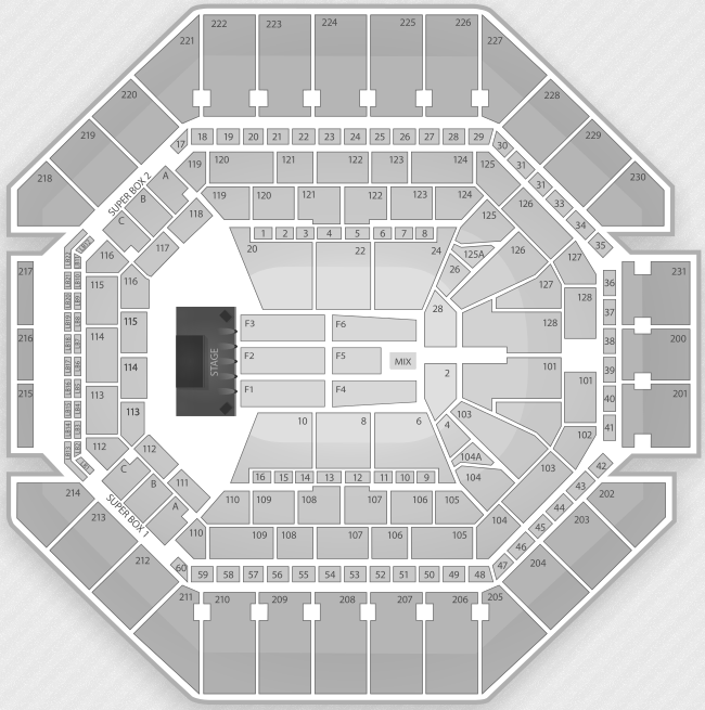 Justin Bieber Seating Chart San Antonio AT&T Center