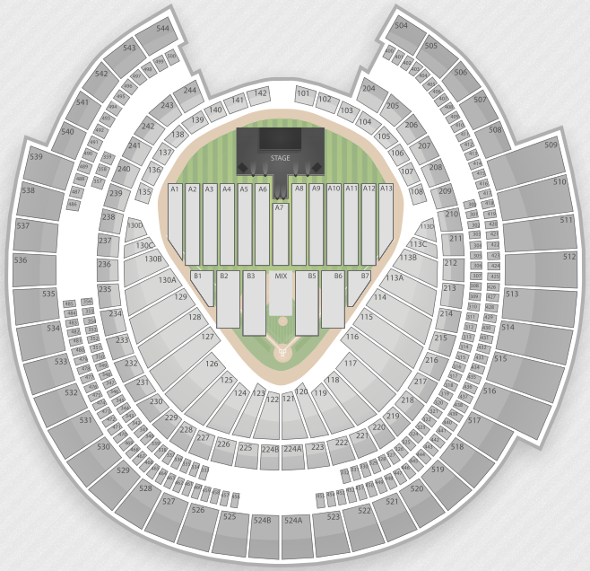 Seating Charts For Justin Biebers Believe Tour TBA - Verizon center seating map