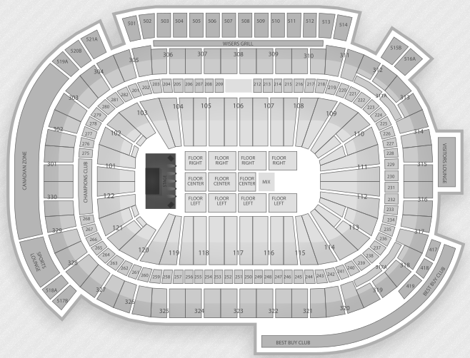Justin Bieber Seating Chart Vancouver Rogers Arena