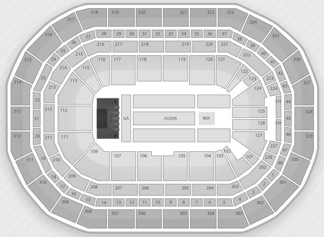 Justin Bieber Seating Chart Winnipeg MTS Centre