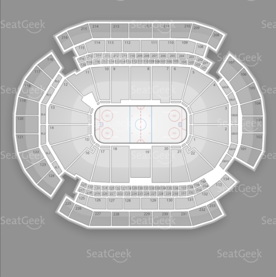 Prudential Center seating chart for The Rolling Stones reunion tour.