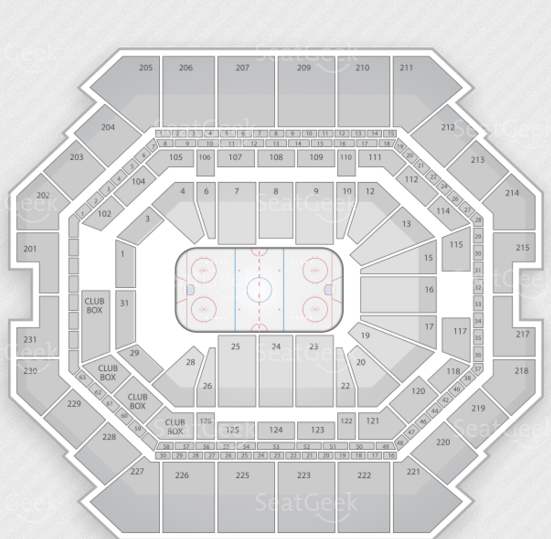 Seating chart for Brooklyn's Barclays Center arena.
