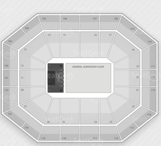 Mohegan Sun Arena seating chart.
