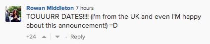 UK fan reacts to Gaga's tweet