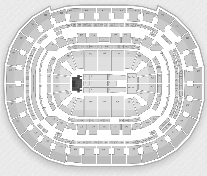 Lady Gaga Seating Chart Verizon Center 2013