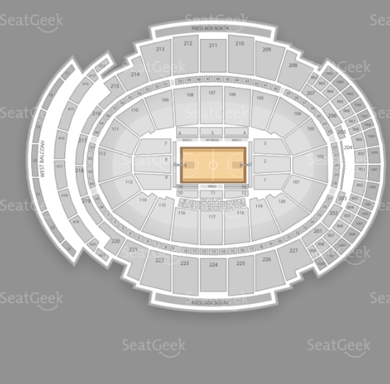 Seating chart for Phish's Madison Square Garden NYE's performances.