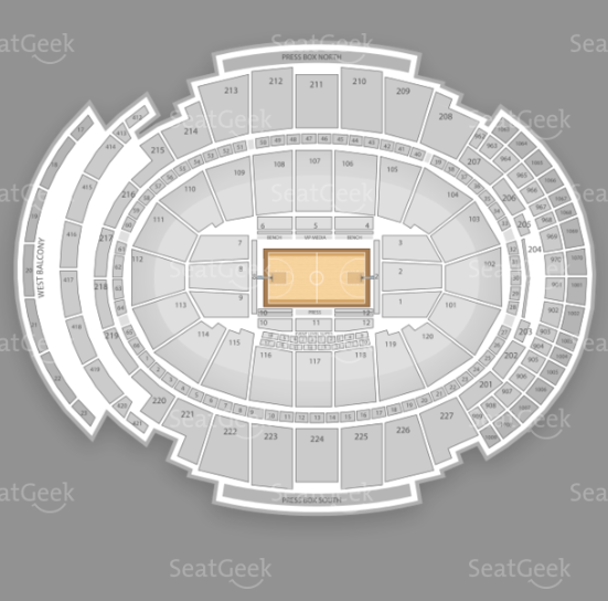 Madison Square Garden seating chart for Passion Pit's 2013 performance.