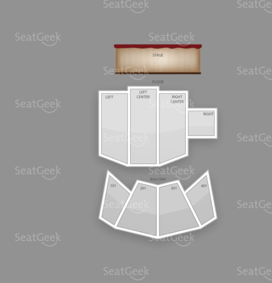 Terminal 5 seating chart for Jane's Addiction New Year's Eve show.