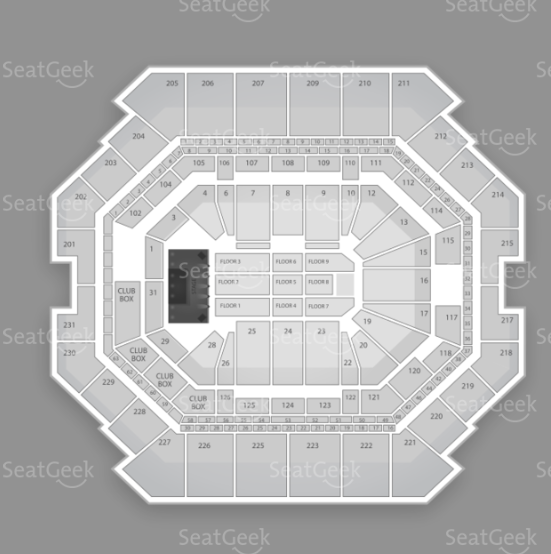 Barclays Center seating chart for Sensation White 2012