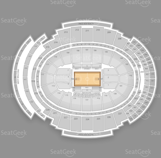 Madison Square Garden seating chart for the 12-12-12 Sandy benefit concert.