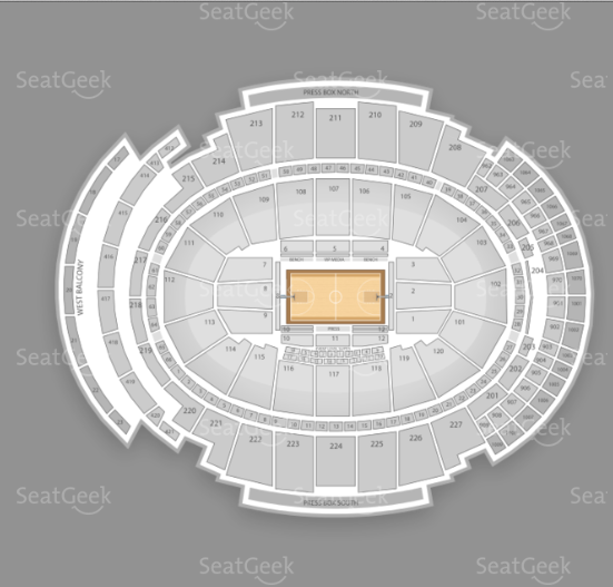 Seating chart for Sigur Ros' performance at Madison Square Garden.
