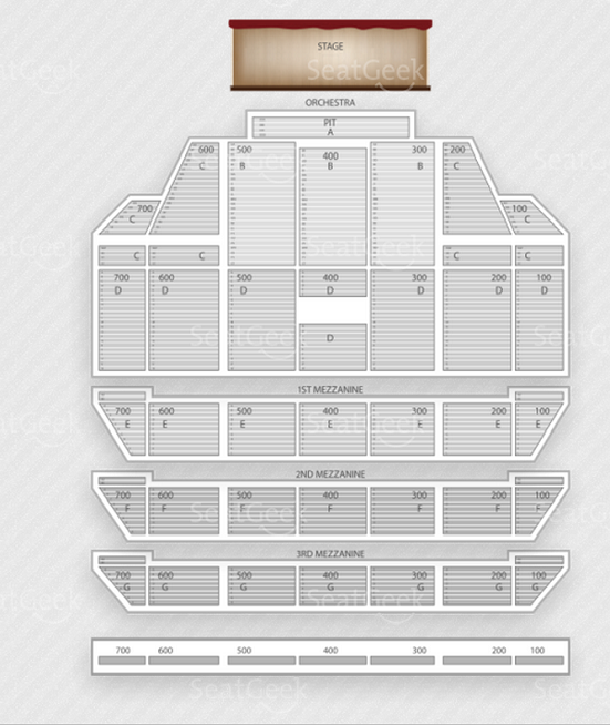Seating chart for Fun. concert at Radio City