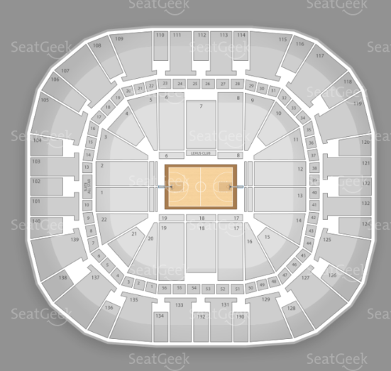 Seating chart for the EnergySolutions Arena.