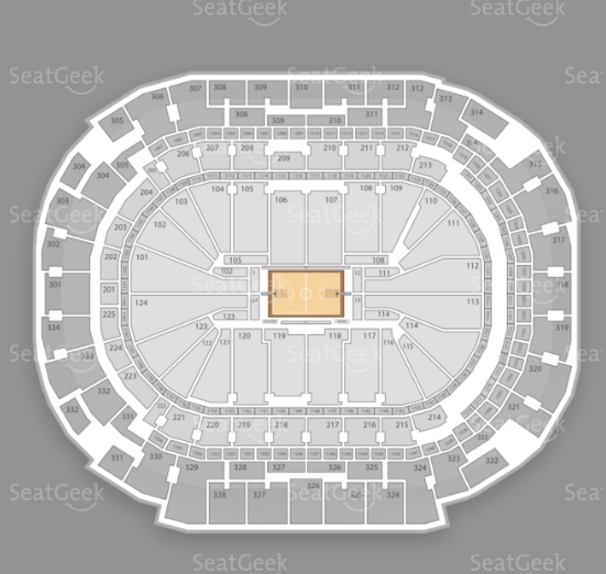 American Airlines Center seating chart for Justin Bieber's performance.