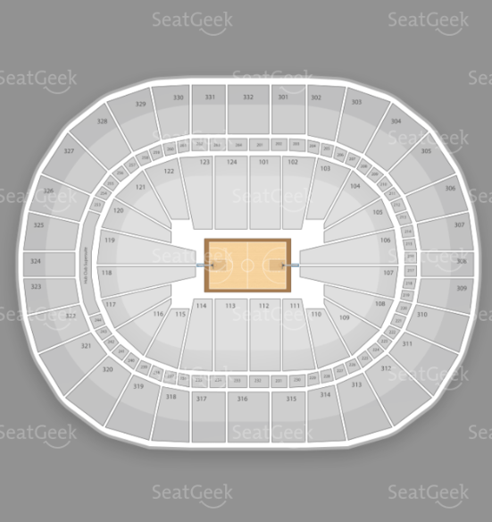 Seating chart for Justin Bieber's concert at the New Orleans Arena.