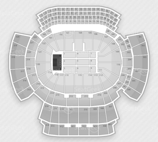 Philips Arena seating chart.